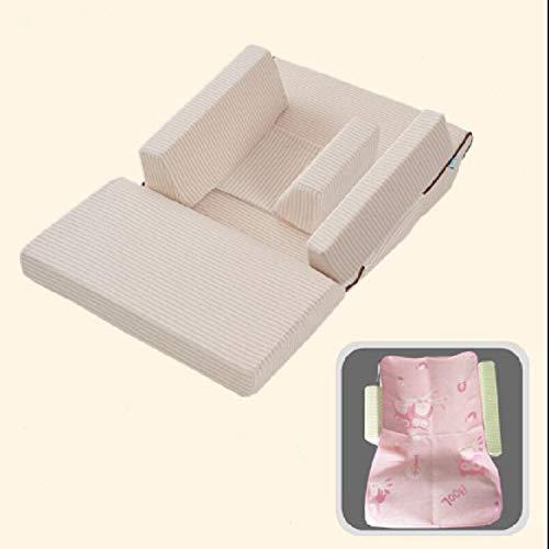 HMG Baby-Sofa Adjustable Kinder Childs Infant beweglicher Sitzstuhl-Gedächtnis-Schaum Werden Stillen Crate Box Sessel Sofa Klappbett, Größe: Einzelschicht (15 Grad)