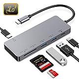 Hotott HUB USB c Lettore Schede di Memoria SD UHS II, Lettore Schede SD 4.0,USB 3.0, 2 Por...