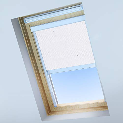 Classic Roof Blinds Skylight Stores Pour Fenêtres De Toit Velux Store Occultant Blanc Brillant Cadre En Aluminium Argenté Ck01