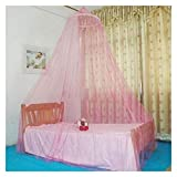 GANG Mosquitera Net Dome Lace Mosquito Net Bed Canopy Netting Double King Size Fly O Protección Fácil instalación/Rosado