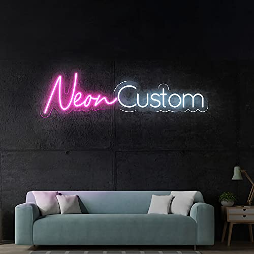 """LC Custom Neon Signs for Bedroom, Wedding Party, Personalized Dimmable Neon Sign for Wall Art, Birthday Gift Giving Name Neon Lights (48"""" Length, 1 Row Text)"""