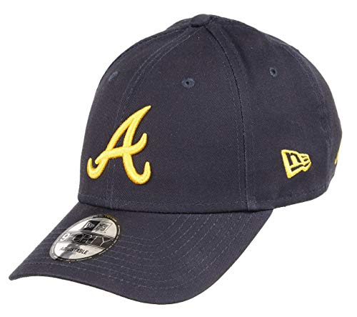 New Era Atlanta Braves 9forty Adjustable Cap MLB Rear Logo Navy/A Gold - One-Size