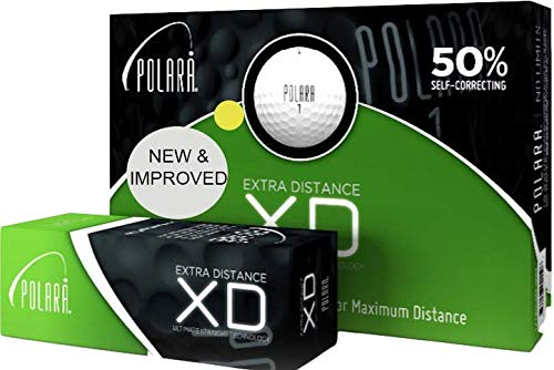 Polara Golf XD Yellow Extra Distance Balls, Reduces Hooks and Slices by Up to 50%, Pack of 12
