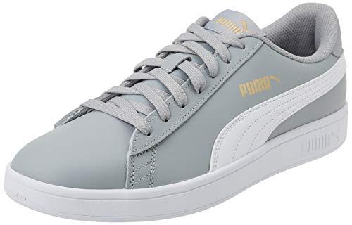 PUMA Unisex Smash V2 L Gymnastikschuh, Quarry Colore Bianco, 41 EU