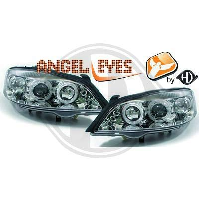 1805585, 1 paar Angel Eyes koplampen, chroom voor Astra G van 1997 tot 2004