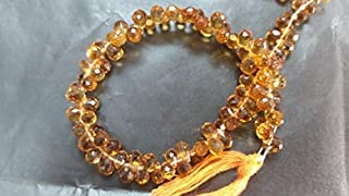 GemAbyss Beads Gemstone Madeira Citrine Faceted Drop Small Size 4x6mm, top Quality briolette in Dark Color 8 Inch Long Strand. Code-MVG-50966