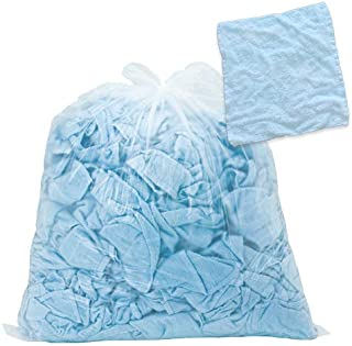 FSX タオルウエス 青 約4kg おしぼりサイズ ふち縫い 綿100% クリーニング済み