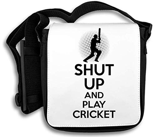 Shut Up and Play Cricket Schultertasche