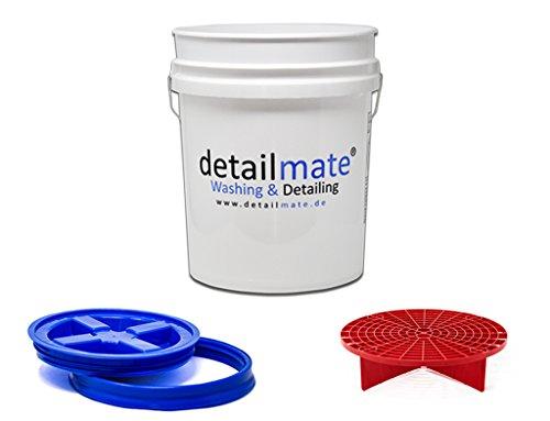 GritGuard Detailmate Wasmachine, 5 g (ca. Gamma Seal, emmerdeksel, blauw, emmer-inzetstuk, rood, 20 liter