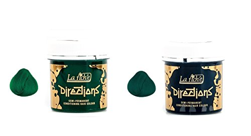 La Riche 2 Pack Directions Semi-Permanent Hair Colour Dye Alpine Green & Apple Green