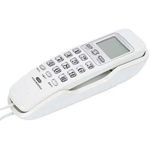 ZARTPMO Teléfonos Teléfono Fijo con Cable: Teléfono Fijo con Reducción De Ruido, Teléfono Fijo con Cable para El Hogar Montaje En La Pared para Oficina En Casa Hotel Restaurante
