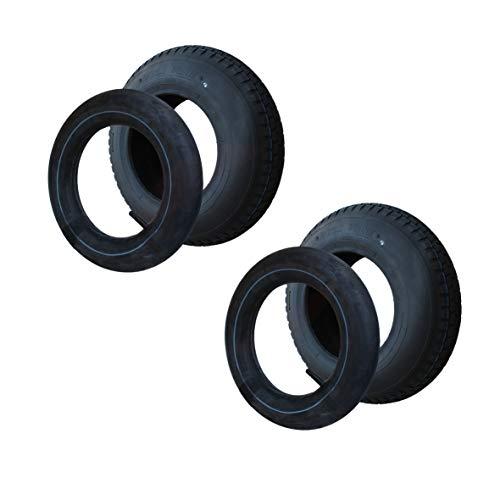 2 Satz Reifen+Schlauch 400x100 4.80/4.00-8 Stollen Profil PR4-Lagen Tragfähigkeit 305 kg