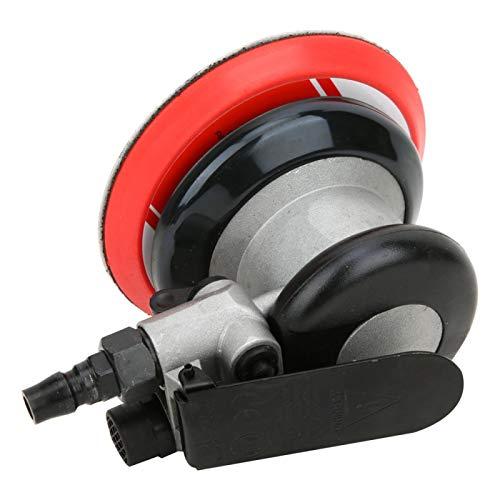 Lijadora orbital, lijadora de 5 pulgadas, lijadora de palma de aire, lijadora orbital con engranaje de aire accionada por aire, para amolado semifino Desbaste