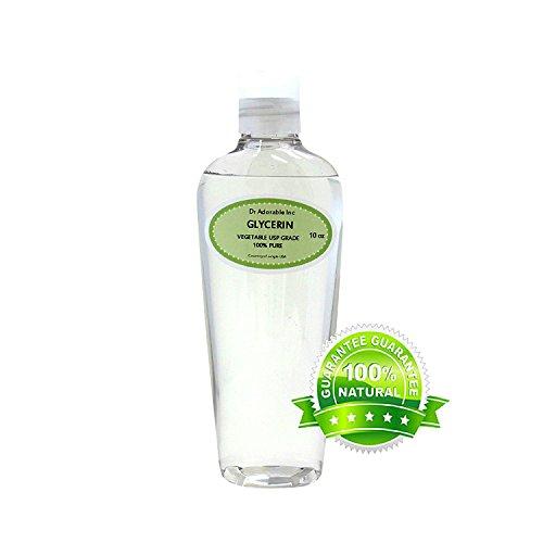 Glicerina/glicerina vegetal, grado USP, 100 % puro, 10 oz.