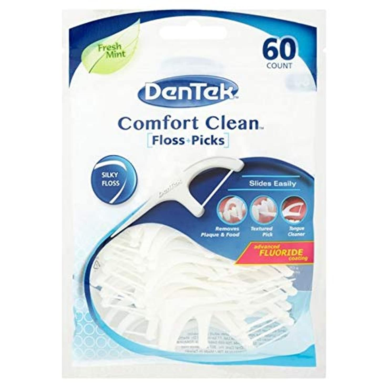 寄稿者アプトカレッジ[DenTek] Dentek快適クリーンフロスパックあたり60を選びます - DenTek Comfort Clean Floss Pick 60 per pack [並行輸入品]