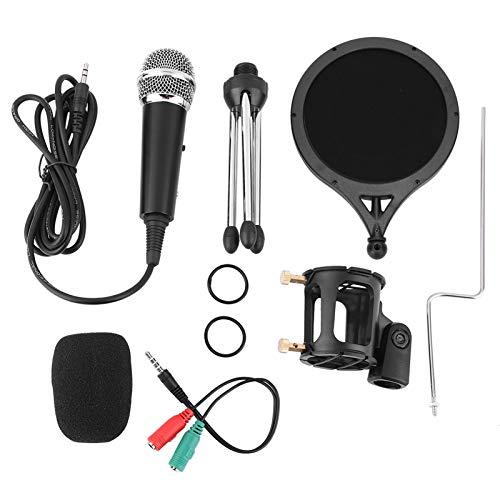 Zopsc-1 Micrófono de Condensador, micrófono para Chat en línea Plug and Play con trípode Plegable Micrófono Capacitivo, para computadora de videoconferencia/teléfono móvil
