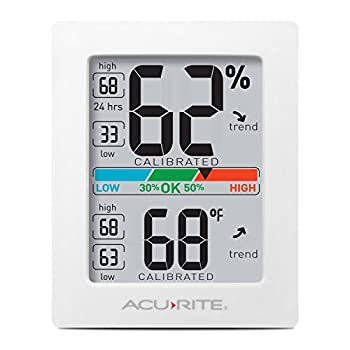 AcuRite Digital Hygrometer with Indoor Monitor and Comfort Scale  01083M  Room Thermometer Gauge with Temperature Humidity 3 x 2.5 Inches