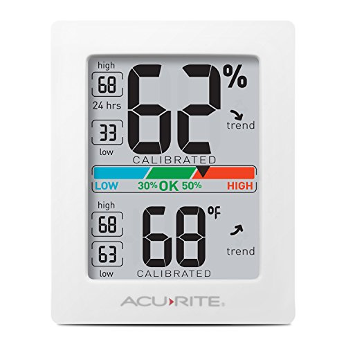 AcuRite Monitor for Greenhouse, Home or Office(3 x 2.5 Inches) Room Thermometer Gauge with Temperature