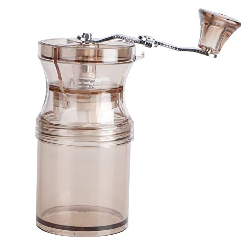 Coffee Bean Grinding Machine, Manual Coffee Grinder, Kitchen Supply Stainless Steel Handle Hand Crank French Press for Drip Coffee Aeropress Espresso(Light brown)