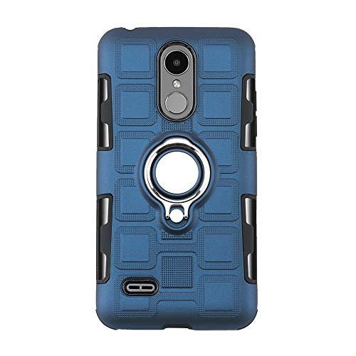 kompatibel mit LG K4 2017 UK|K8 2017 UK Hülle,Ring Kickstand 360°Fingerring Grip Drop Schutz Ultra Slim Fit TPU Schutzhülle Stoßdämpfung Weichen case Cover (K8 2017 UK, Marine)