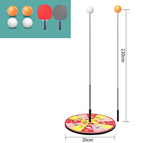 Mesa de Ping Pong Práctica del Robot portátil de Ping-Pong Trainer con elásticos Suaves del Eje 2 Raquetas y 4 Bolas del Ping-Pong,SK 7