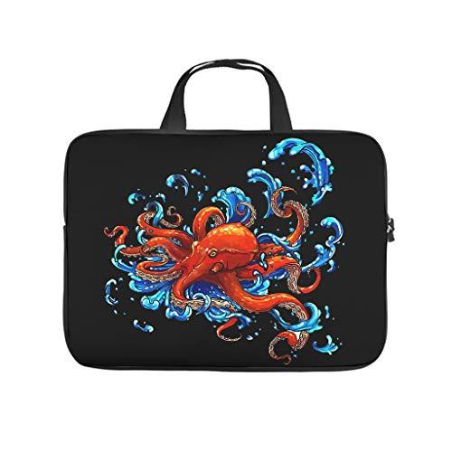 Octopus Tattoo - Funda protectora para ordenador portátil, resistente al agua, con asa de transporte, para hombres, mujeres, niños y niñas, White (Blanco) - Zhouwonder670