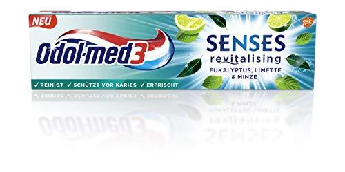 Odol-med3 SENSES revitalising Eukalyptus, Limette & Minze Zahnpasta,75 ml