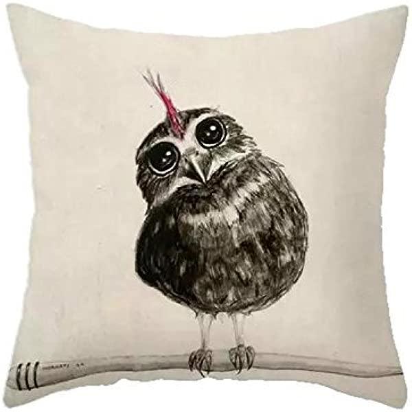 LAZAMYASA Animal Fashion Abstract Pug Dog Cushion Cover Case Pillow Custom Zippered Square Pillowcase 18x18 One Side Kitty Hawk