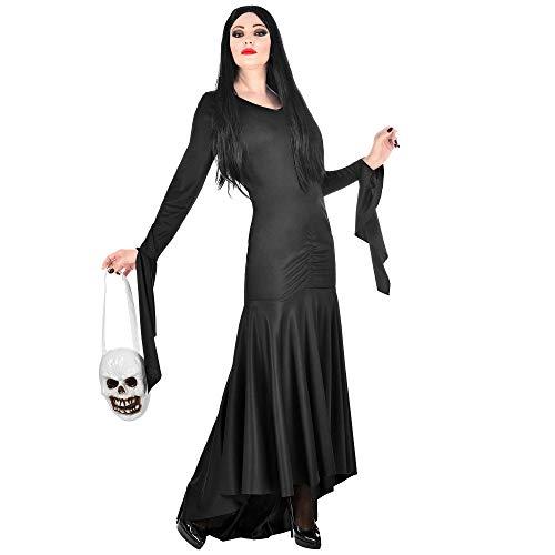 WIDMANN 01879 - Disfraz de morticia para mujer, color negro, talla XS , color/modelo surtido