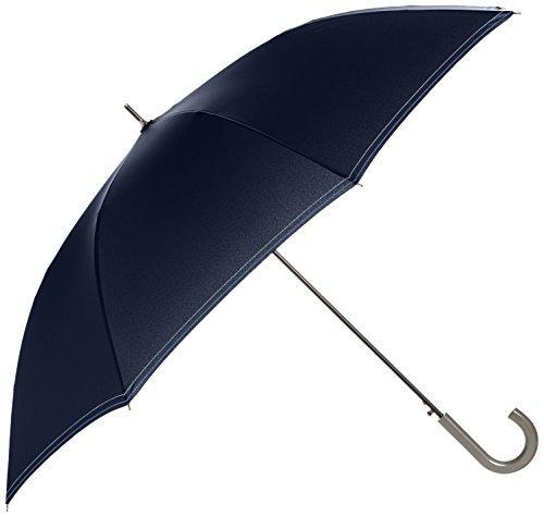[ムーンバット] 長傘 紳士 ジャンプ傘 耐風 ステッチ メンズ ディープブルー 日本 親骨70cm (FREE サイズ)