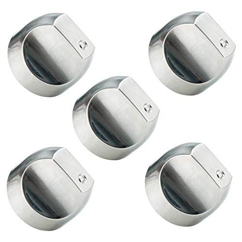 WB03X32194 WB03T10329 Cooktop Range Burner Control Dial Knob Appliances parts Compatible with GE. Stove/Range Stainless Steel. Replace WB03T10329, WB03X25889, WB03X32194, AP5985157, 4920893 (5pcs)
