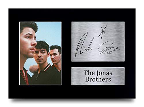HWC Trading A4 Die Jonas Brothers Geschenke gedruckt Autogramm Bild für Music Memorabilia Fans Signed - A4