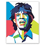 The Rolling Stones Poster – Mick Jagger Wanddruck –
