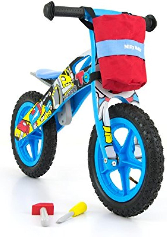 buena reputación MILLY MALLY MALLY MALLY Bicicleta infantil de madera con manillar bolsa y herramientas, ruedas con neumáticos de aire (Válvula), 12pulgadas  directo de fábrica