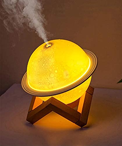 Raawan 2 in 1 Moon Lamp Cool Mist Humidifiers Essential Oil Diffuser Aroma Air Humidifier with Led Night Light Colorful Change for Car Office Babies humidifiers for Home air humidifier for Room