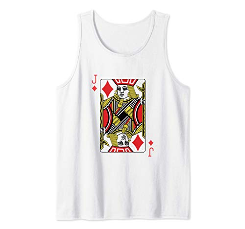 La jota de diamantes Jugando al póquer de cartas Camiseta sin Mangas
