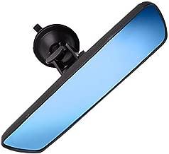 "PME 9.8"" Day/Night Anti Glare Rear View Mirror, Universal Car Truck Mirror Interior Rear View Mirror SuctionCup Rearview Mirror - (Anti Glare Delux Version) Blue Mirror"