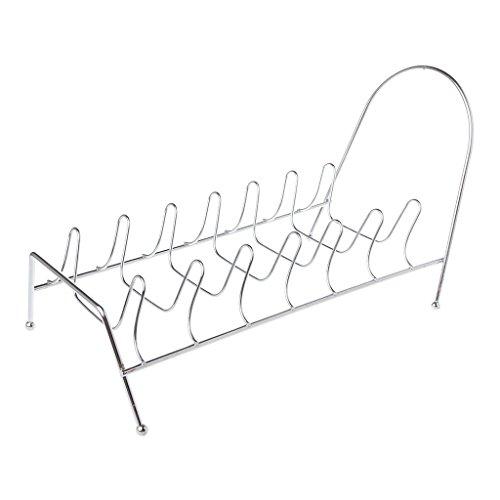 Manyao - Escurridor de vajilla de hierro con soporte para escurridor, organizador de platos vertical, para el cuenco de vajilla, diseño soporte para estante