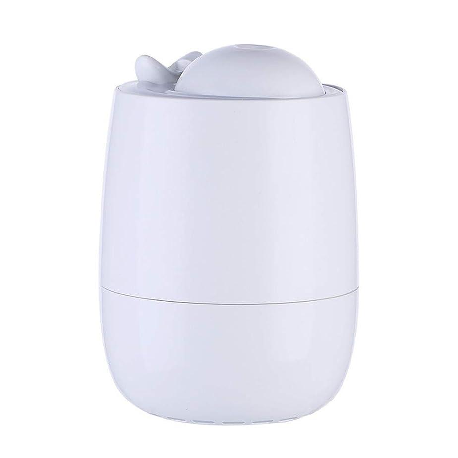 勤勉な潜む中断2019素敵な卓上加湿器 拡散器小型乾燥/花粉症対策 エアフィルタ 部屋 車載 オフィス連続加湿 LEDライト ペットボトル (ホワイト)