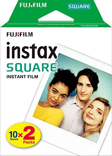 Fujifilm instax Square, película instantánea borde blanco, 2 x 10 fotos