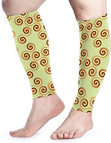 zsxaaasdf Whirl Pattern Calf Compression Sleeve Men Womens Running Leg Sleeve for Shin Splint Muscle Pain Relief (1 Pair)