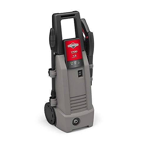 Briggs & Stratton S1700 1700 MAX PSI at 1.0 GPM Electric Pressure Washer with Detergent Injection, 26-Foot High-Pressure Hose, and Turbo Nozzle