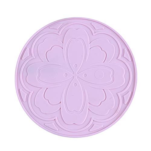 Idiytip Round Pad Cup Pad Tee Mat Lebensmittel Küchentisch Zubehör, Pink