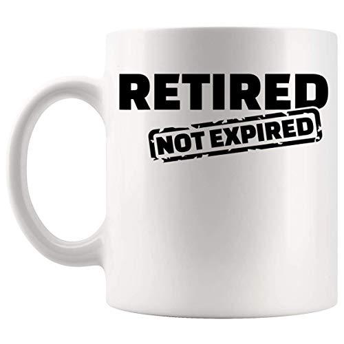 N\A Rentner Rentner - Pensionierter abgelaufener Becher Cup 11Oz - Ruhestand Ruhestandsgeschenke für Männer - Lustiges Witz-Shirt