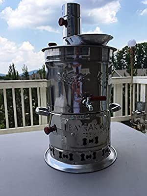 Samovar Free Energy Water Heater TEAPOT INCLUDED 4l /150 Oz Semaver Samavar Boat Camping Hiking Hunting Yachting Tea Kettle Urn Tea-urn BBQ