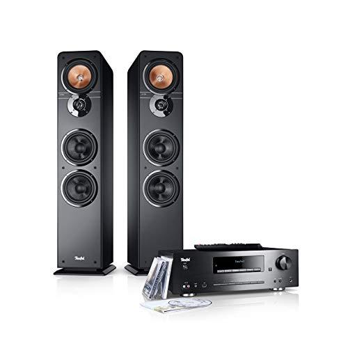 Teufel Ultima 40 Kombo Schwarz Stereo Lautsprecher Musik Sound Hochtöner Mitteltöner Bass Speaker High End HiFi Tieftöner Schalldruck Soundanlage