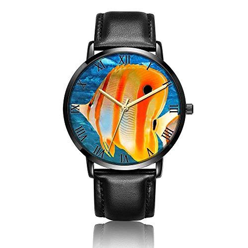 Analoge Uhr, Business-Armband, Casual, PU-Leder, Armband für Fische, Aquarien
