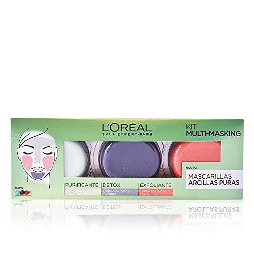 L'Oréal Paris Dermo Expertise - Set Mascarillas de arcillas puras, purificante, detox y exfoliante