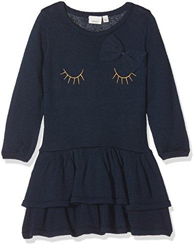 Name It Nitetaxi Ls Knit F Mini Robe, Bleu (Dress Blues), 98 Bébé Fille