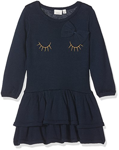 Name It Nitetaxi Ls Knit Dress F Mini Robe, Bleu Blues, 98 Bébé Fille